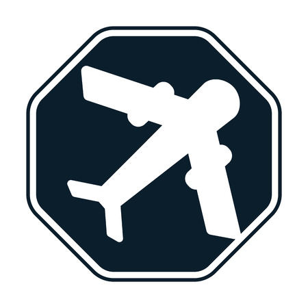 commercial airline: Aircraft icon Illustration