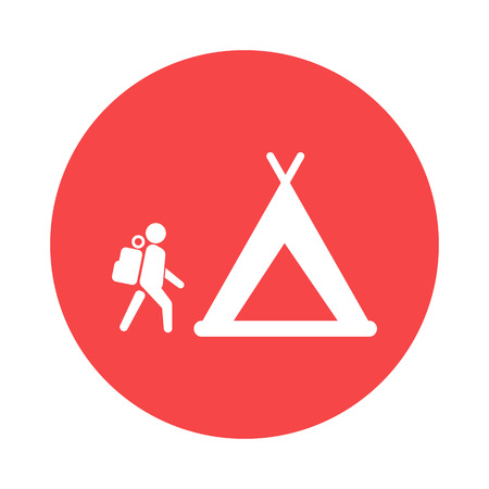 trees services: Holiday camp icon
