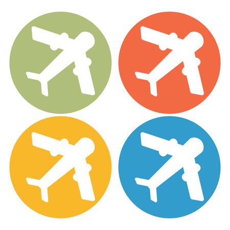 airways: Aircraft icon Illustration