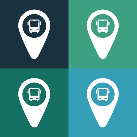 bus parking: Bus parking icon