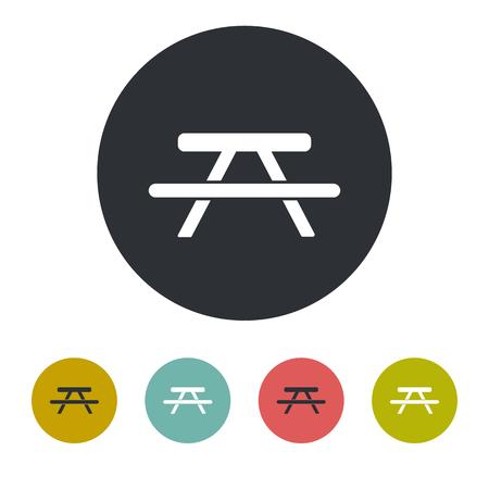 studs: Picnic table icon Illustration