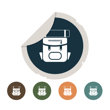 mochila de viaje: Icono de la mochila de viaje