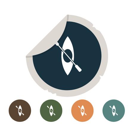 canoe: Canoe icon Illustration