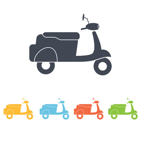 family van: Moped icon Illustration
