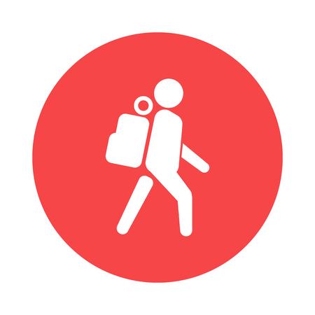 tourist icon: Tourist icon Illustration