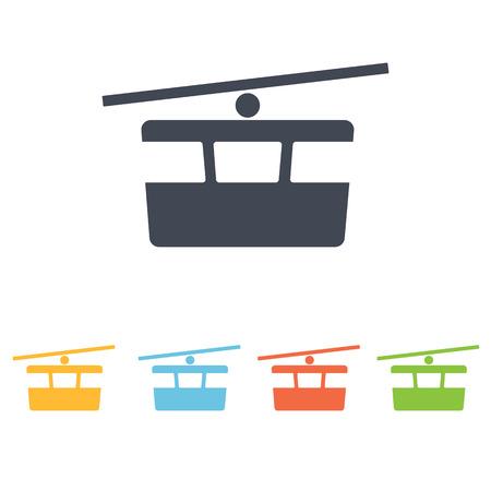 rope way: Funicular icon