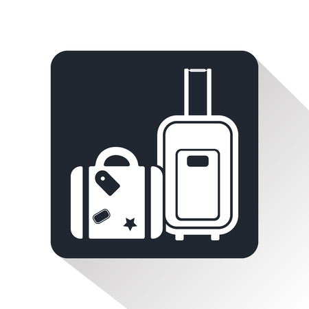 luggage carrier: Luggage icon
