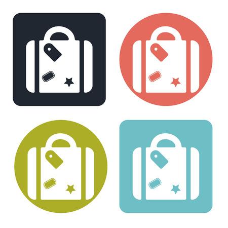 straps: Suitcase icon Illustration