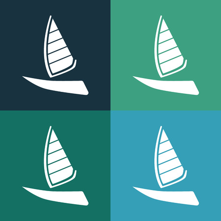pez vela: Icono Sailfish barco