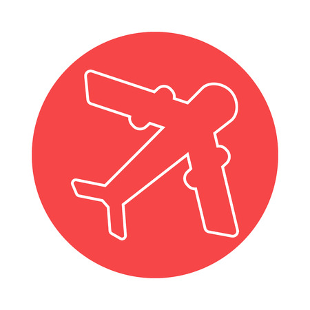airways: Aircraft icon Illustration