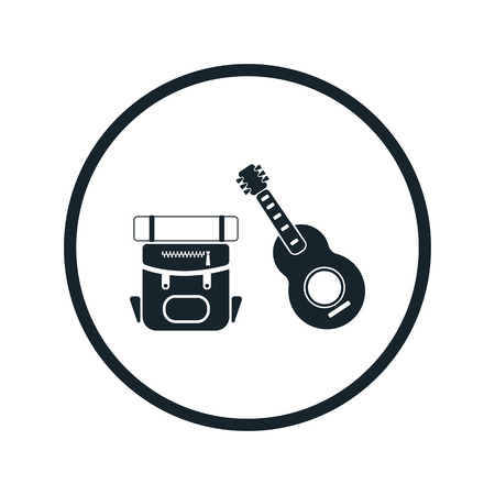 pack string: Travel backpack and guitar icon