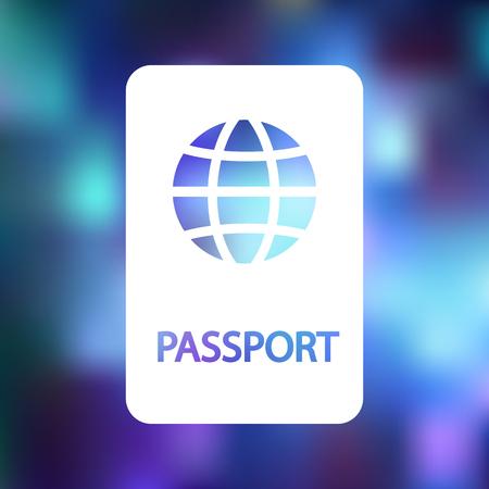 emigration and immigration: Passport icon