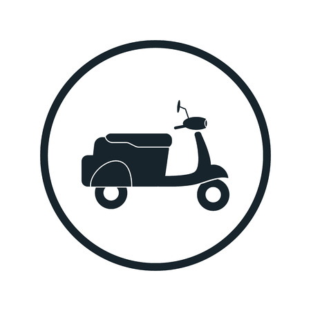streetcar: Moped icon Illustration