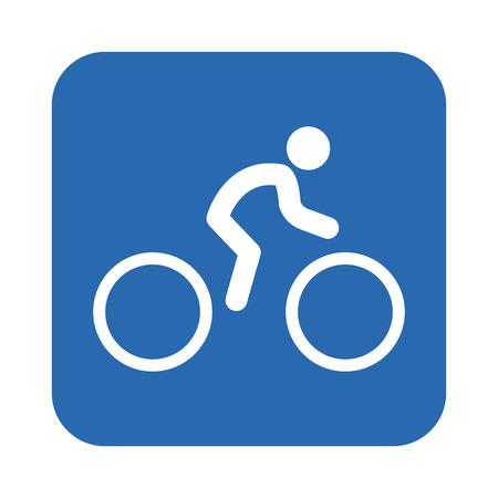 bicyclist: Bicyclist icon Illustration