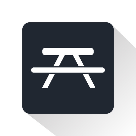 Picnic table icon Иллюстрация