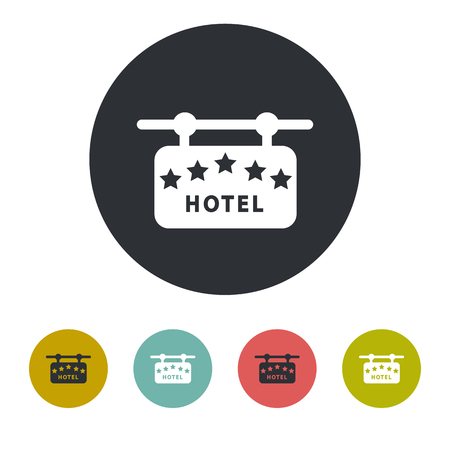 maldives island: Signboard hotel icon