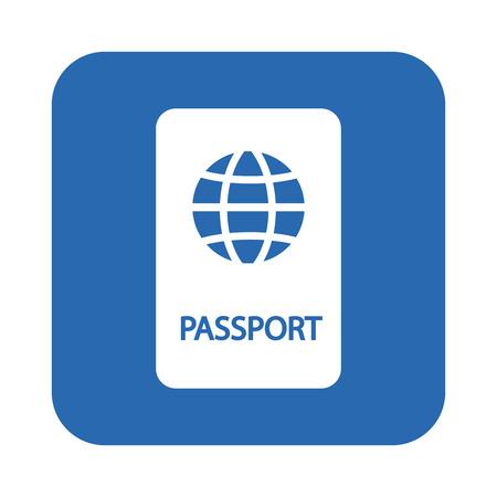 passeport: Passeport icône Illustration