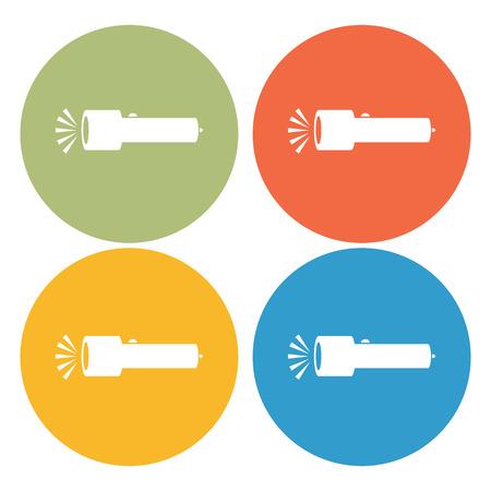 electric torch: Flashlight icon Illustration