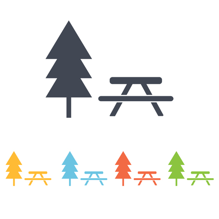 picnic table: Picnic table icon Illustration