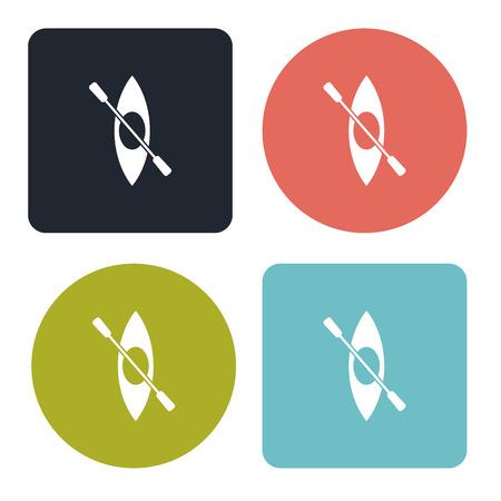 row boat: Canoe icon Illustration