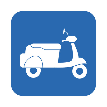 moped: Moped icon Illustration
