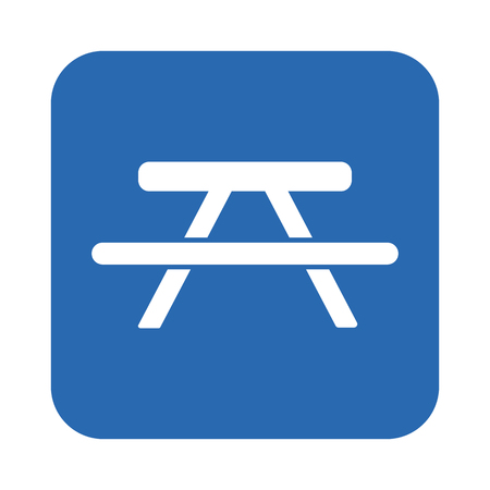 Picnic table icon Illustration