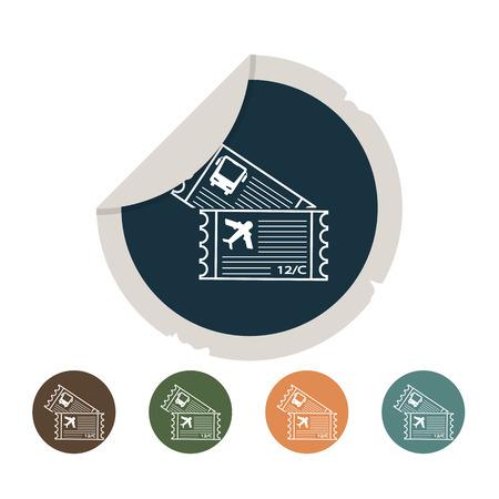 overseas: Tickets icon Illustration