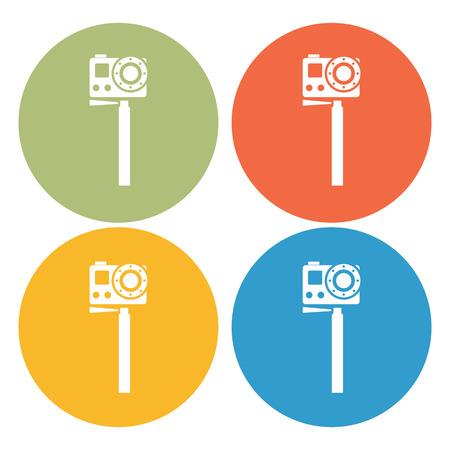 cam: stick cam icon Illustration