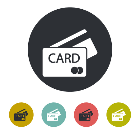 secure icon: Credit card icon Illustration