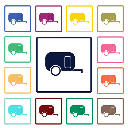 caravan: Caravan icon Illustration