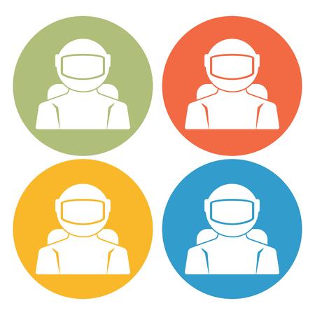 spaceflight: Cosmonaut icon Illustration