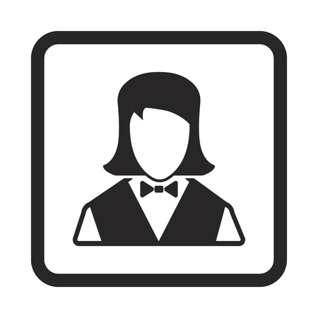 valet: Waitress icon Illustration