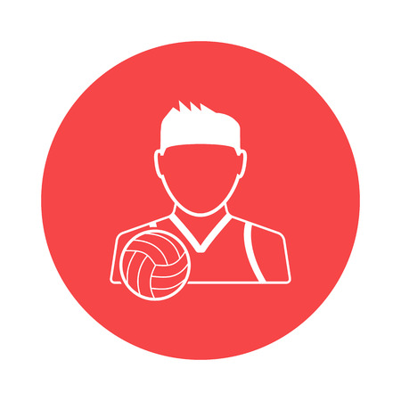 volleyball player: Volleyball player icon