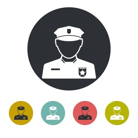 security man: Policeman icon Illustration