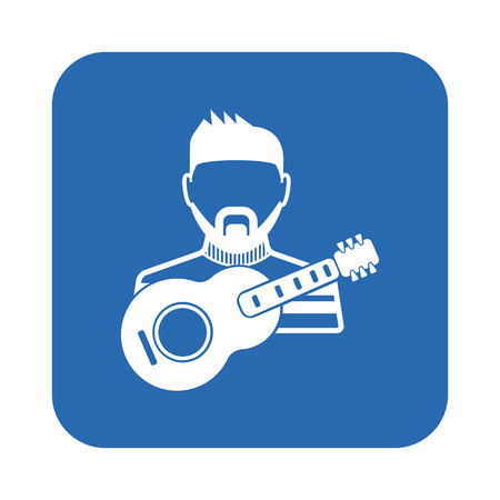 bard: Musician icon Illustration