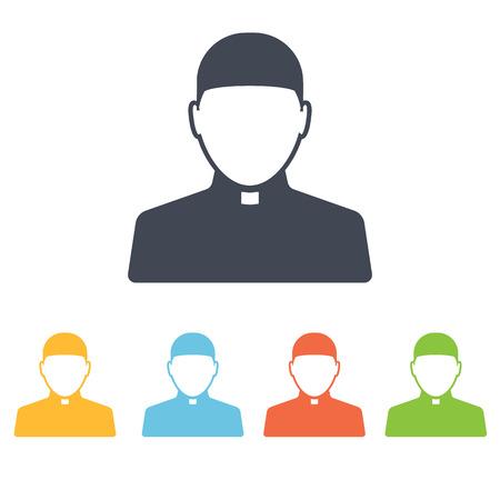 sacerdote: Sacerdote icono Vectores