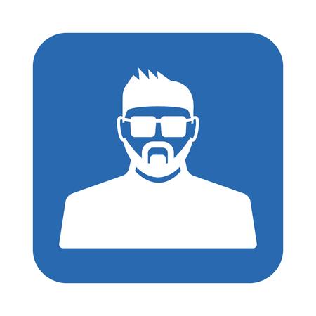 body guard: Face control icon Illustration