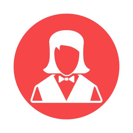 waitress: Waitress icon Illustration