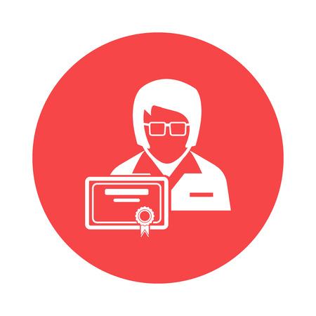 specialist: Specialist icon Illustration