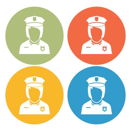 mujer policia: icono de policía