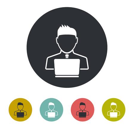 data theft: Hacker icon Illustration