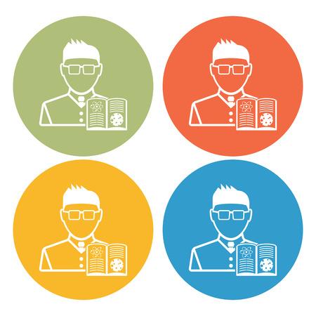 speciality: Teacher icon Illustration