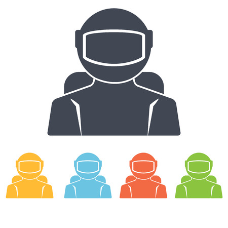 Cosmonaut icon Illustration