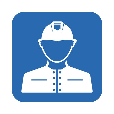 water damage: Firefighter icon Illustration