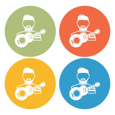 talented: Musician icon Illustration