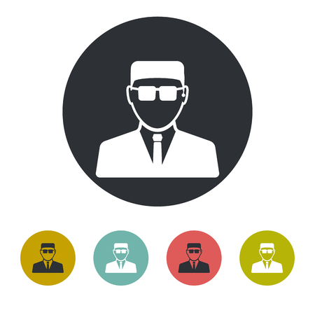 security icon: Security guard icon Illustration