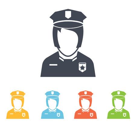 mujer policia: icono de polic�a