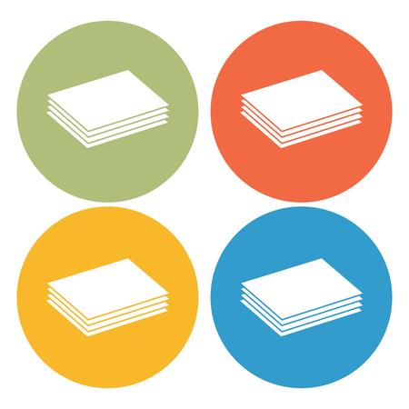 hardboard: Building materials icon Illustration