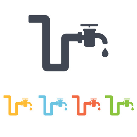 gas tap: Pipe icon