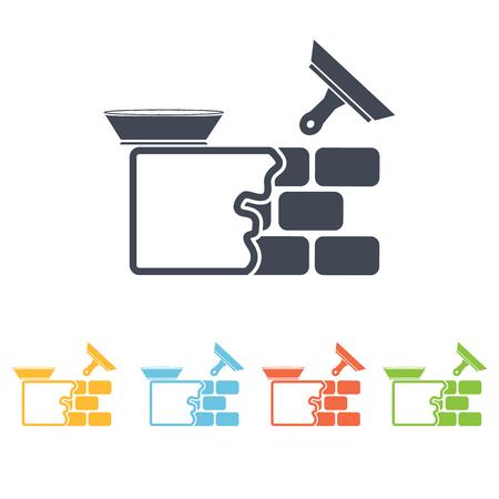 stucco wall: Stucco wall icon Illustration